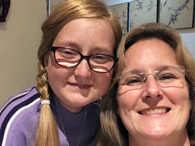 Isabelle Carnell-Holdaway (left), now 17, with her mother Joanne Carnell-Holdaway. Isabelle has a dangerous infection that is being treated with a cocktail of genetically modified viruses.