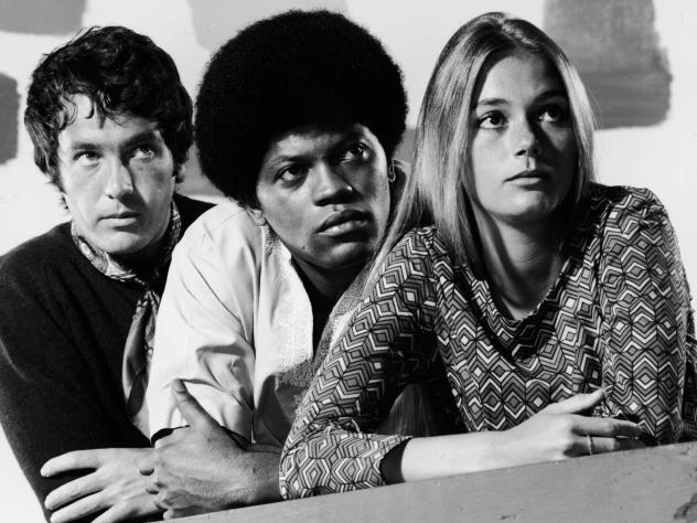 Michael Cole, Clarence Williams III and Peggy Lipton starred in the 1960s show 'The Mod Squad' which was considered groundbreaking for featuring an interracial cast.