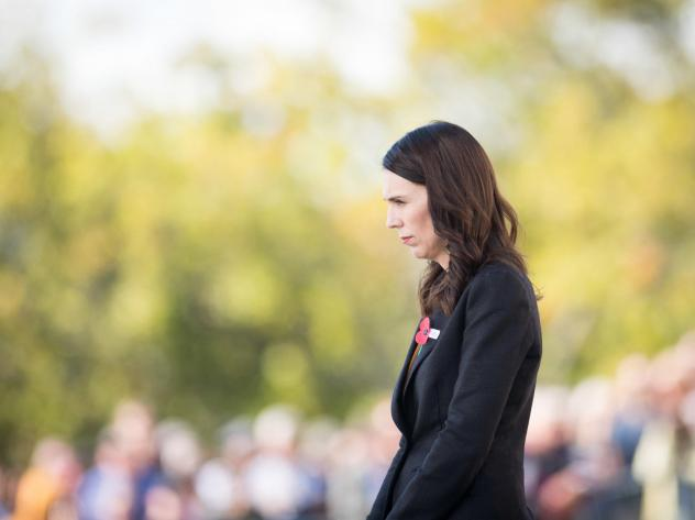 New Zealand Prime Minister Jacinda Ardern is calling on governments and tech companies to do more to prevent livestreaming of terrorist attacks and the spread of such videos online. Ardern is seen here laying a wreath at the Auckland War Memorial Museum