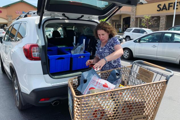 """""""I had one day, I worked six hours and made $50. It really wasn't worth it. ... But it doesn't happen that often,"""" says Hilary Gordon, who works as a shopper for the grocery-delivery app Instacart in Sacramento, Calif. """"The other day I worked 11-and-a-ha"""