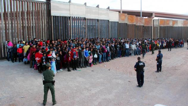 President Trump has announced plans to impose escalating tariffs on goods imported from Mexico in an attempt to stop migrants from entering the U.S. over the southern border. U.S. Customs and Border Protection released this photo, taken on Wednesday at E