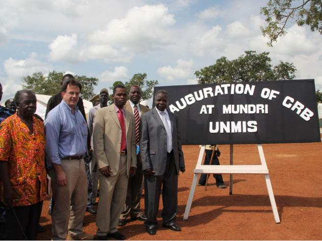 David Gressly, second from left, in South Sudan in 2010. Until recently Gressly was second in command of the U.N. mission in Congo. On May 23, he was appointed Emergency Ebola Coordinator.