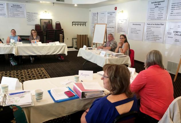 Volunteers participate in a recent Healthy U leader training in Lander, Wyo. the program provides health skills training to people in rural areas. According to a recent poll, 26 percent of rural Americans said there has been a time in the past few years