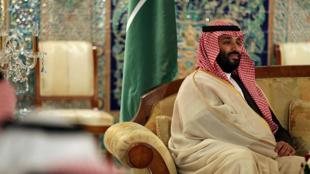 Saudi Crown Prince Mohammed bin Salman is seen in Algiers on Dec. 2, 2018 — exactly two months after Saudi journalist Jamal Khashoggi entered the Saudi Consulate in Istanbul and was never heard from again.