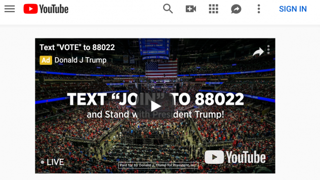 An ad paid for by Donald J. Trump for President Inc.