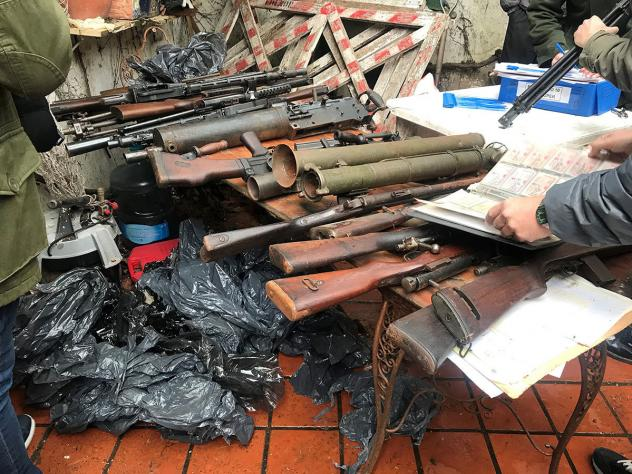 U.S. federal agents say an international operation seized 5,300 firearms and components from a transnational criminal organization.