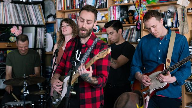 American Football plays a Tiny Desk Concert on May 23, 2019 (Claire Harbage/NPR).