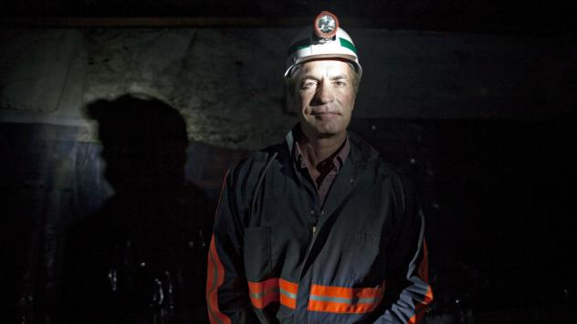 Chris Cline poses for a portrait in a coal mine in Carlinville, Ill., in 2010. The coal magnate was on a helicopter that crashed in the waters off Grand Cay, Bahamas, on Thursday, killing all seven people onboard.