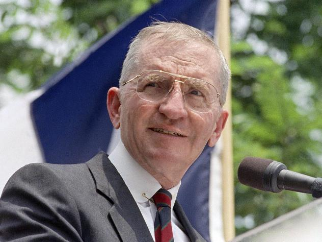 Ross Perot ran for president twice, in 1992 and 1996.