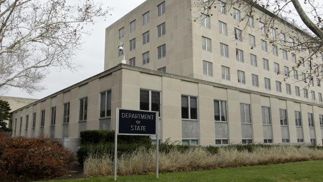 The State Department in Washington, D.C., in 2014. A former office manager there was sentenced to 40 months in prison for concealing her exchanges with Chinese intelligence agents.