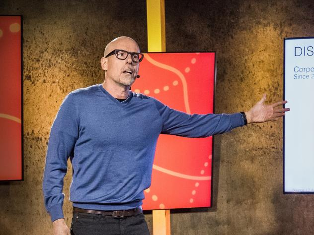Scott Galloway on the TED stage