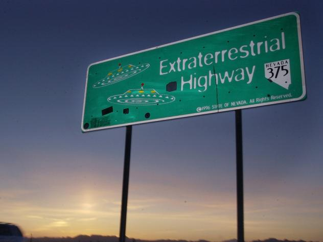 Extraterrestrial Highway near Rachel, Nev., in this 2002 photo.