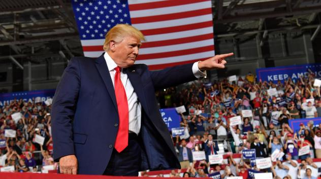 President Trump continued his attacks on members of Congress during a campaign rally in Greenville, N.C., Wednesday night.