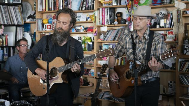 Calexico and Iron & Wine play a Tiny Desk Concert on June 19, 2019 (Shuran Huang/NPR).