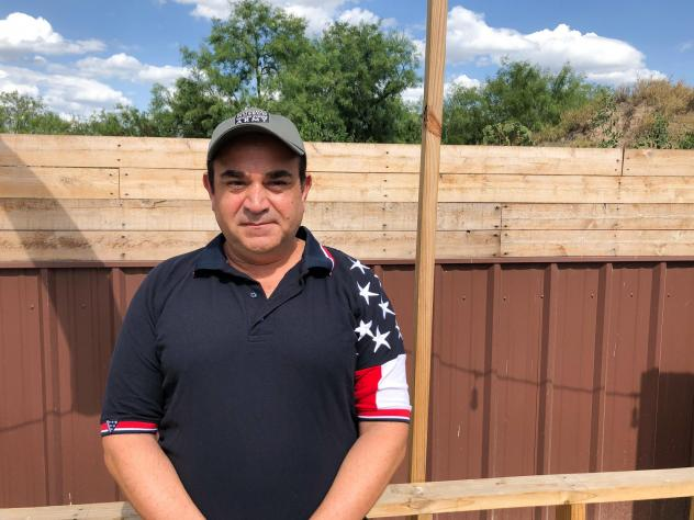 Ross Barrera, Starr County GOP chairman, wants a border wall to stop unauthorized migrants who he says hike up from the Rio Grande on the path behind his fence.