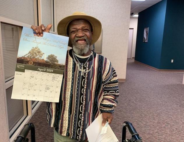 John Poynter of Clarksville, Tenn., uses a wall calendar to keep track of all his appointments for both behavioral health and physical ailments. His mental health case manager, Valerie Klein, appears regularly on the calendar — and helps make sure he g