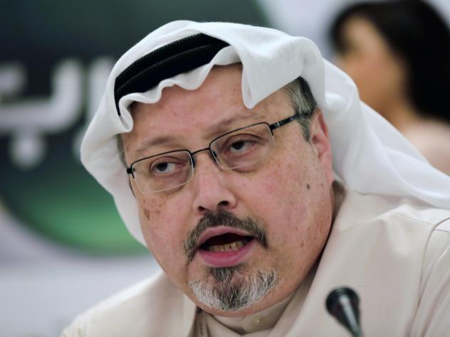 A federal judge says the government must prioritize the release of documents requested under the Freedom of Information Act about the killing of Saudi journalist Jamal Khashoggi, seen above in 2014. The U.S. resident was slain in the Saudi Consulate in T