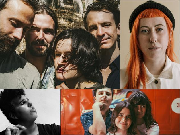 Clockwise from upper left: Big Thief, Shannon Lay, Queen of Jeans, Brittany Howard