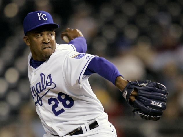 Octavio Dotel, then a pitcher for the Kansas City Royals, seen during a 2007 game. Dominican Republic authorities arrested the former MLB player, saying both he and ex-infielder Luis Castillo were linked with an alleged drug trafficker.