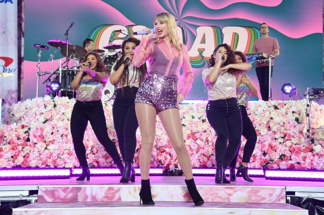"Taylor Swift performs on ABC's ""Good Morning America"" at SummerStage at Central Park on Thursday."
