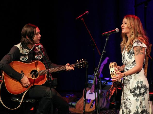 Jeremy Ivey and Margo Price at the Country Music Hall of Fame and Museum in Nashville.