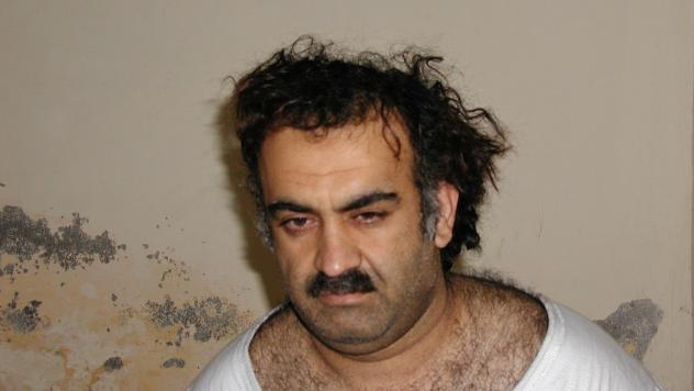 Khalid Sheikh Mohammed, seen shortly after his capture during a 2003 raid in Pakistan, is accused of masterminding the Sept. 11, 2001, terrorist attacks that killed nearly 3,000 people.