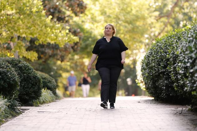 "On the advice of a co-worker, Dehne joined a six-week program through which she learned <a href=""https://oaaction.unc.edu/resource-library/living-with-osteoarthritis/wwe/"">how to safely walk to ease her pain</a>. Now Dehne briskly walks for exercise and"