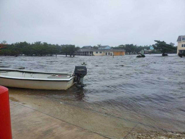 Flooding from Hurricane Dorian swamped Ocracoke Island on Friday in North Carolina's Outer Banks.