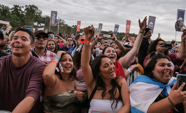 The crowd at Los Dells Festival in Wisconsin celebrates music and identity.