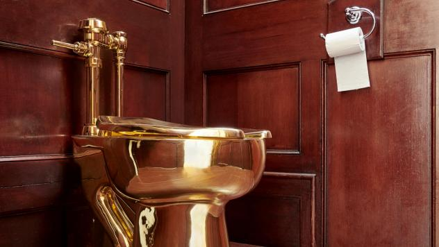The toilet — worth, by some estimates, up to $1.25 million — was connected to the plumbing in the Blenheim Palace.
