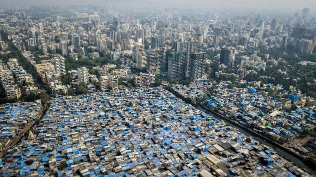 In Mumbai, some prosperous neighborhoods sit alongside slums. This year's Gates report on progress toward eliminating poverty notes that there is vast inequality not only between nations, but within many of them.