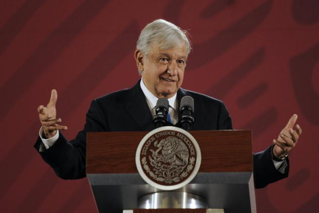 Since taking office last December, Mexican President Andrés Manuel López Obrador has not left his country. Critics say he is damaging Mexico's image on the world stage. Above, he speaks during the daily morning press briefing in Mexico City on Sept. 5.