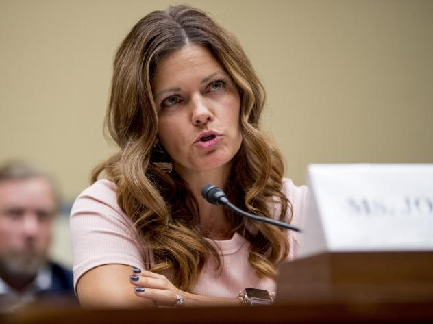 Ruby Johnson, whose daughter was recently hospitalized with a respiratory illness from vaping, testified before a House Oversight subcommittee hearing on lung disease and e-cigarettes on Capitol Hill Tuesday.
