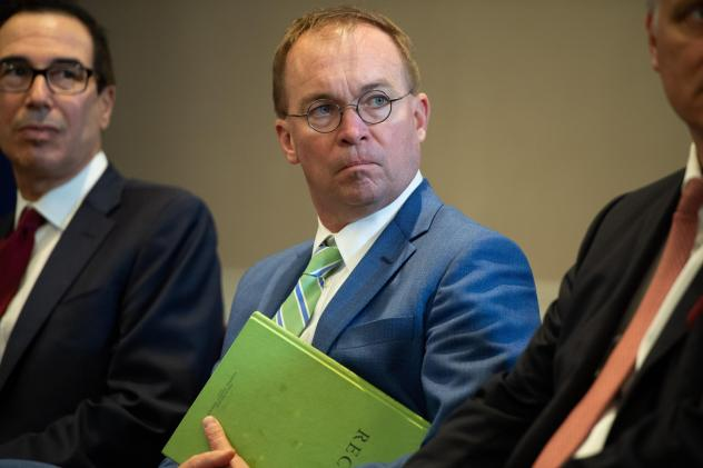 White House Chief of Staff Mick Mulvaney, pictured in September 2019.