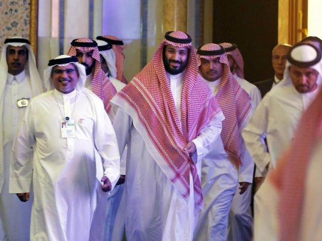 Saudi Crown Prince Mohammed bin Salman attends the Future Investment Initiative conference, in Riyadh, Saudi Arabia, on Oct. 24, 2018. Many major executives backed out of the event after the killing of journalist Jamal Khashoggi. This year, some of the b