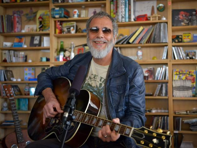 "Yusuf/Cat Stevens performed ""Father and Son"" at the Tiny Desk on Oct. 26, 2014."