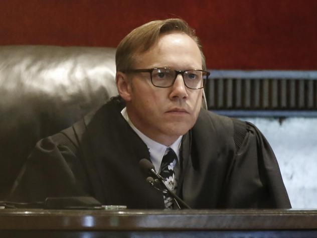 Judge Thad Balkman holds a hearing Tuesday on his final judgment in the opioid lawsuit against Johnson & Johnson by the state of Oklahoma.