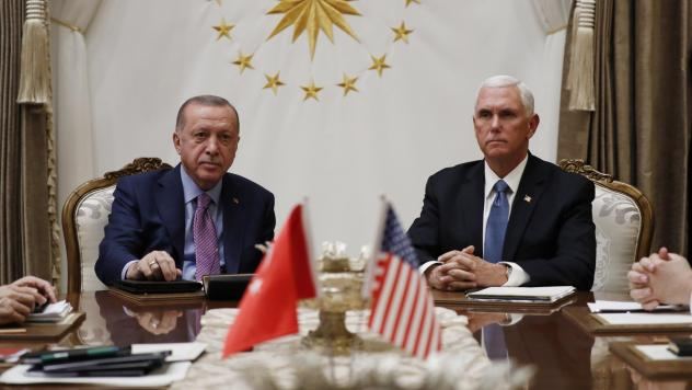 Turkish President Recep Tayyip Erdogan and Vice President Pence meet Thursday at the Presidential Palace in Ankara, Turkey, for talks on the Kurds and Syria.