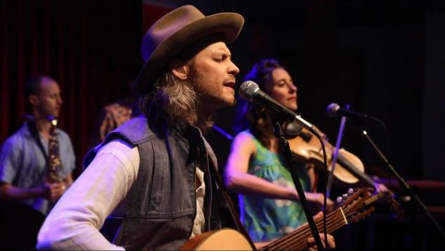 David Wax Museum performing live for the World Cafe