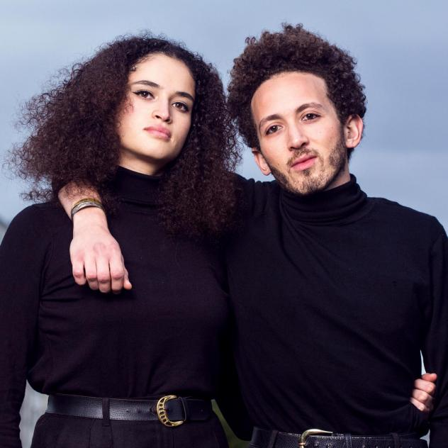 """Nesma (left) and Anys are Algerian siblings who came out to each other at a party. They live in Paris, and both identify as queer. """"It now makes us stronger and committed together for the queer and Algerian causes,"""" Anys says."""