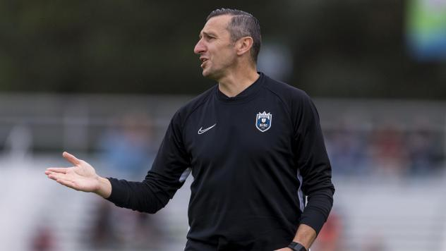 Vlatko Andonovski will replace  Jill Ellis as the U.S. national women's soccer team coach. He's seen here coaching Reign FC of the National Women's Soccer League earlier this month,
