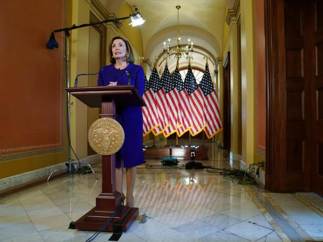 House Speaker Nancy Pelosi, D-Calif., announced an impeachment inquiry into President Trump on September 24, 2019 at the Capitol Building in Washington, DC.