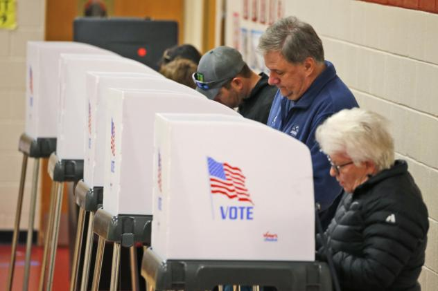 Voters cast their ballots at a polling station in Richmond, Va., Tuesday, Nov. 5, 2019.
