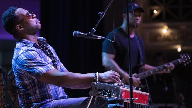 Robert Randolph performing live at the AmericanaFest Day Stage presented by NPR Music, WMOT and World Cafe.