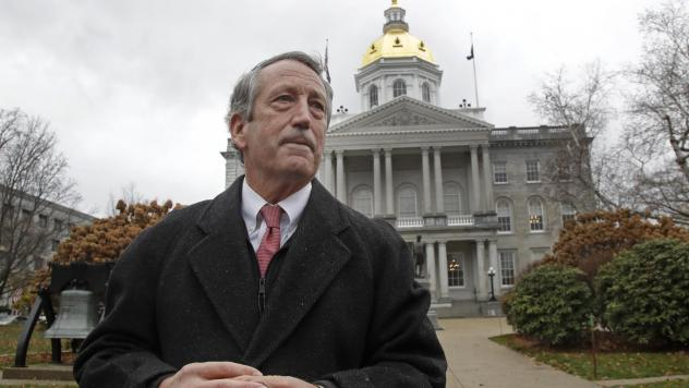 Former South Carolina Gov. Mark Sanford speaks during a news conference in front of the Statehouse on Tuesday in Concord, N.H., where he announced he is ending his long-shot 2020 presidential bid.