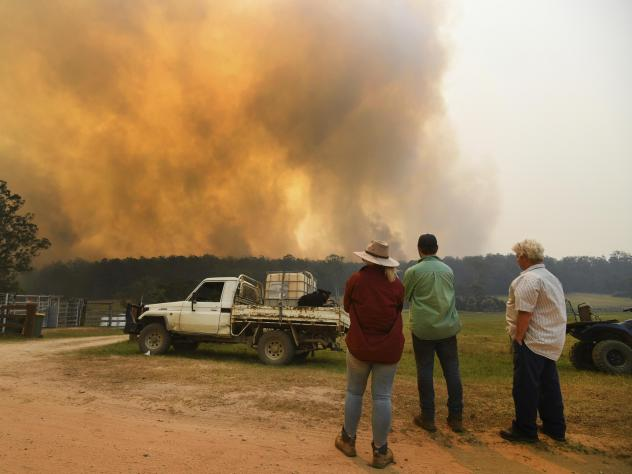 Ferocious wildfires were burning at emergency-level intensity across Australia's New South Wales, most populous state, on Tuesday as authorities warned most populations in their paths that there was no longer time to flee.