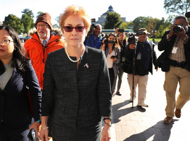 Former U.S. Ambassador to Ukraine Marie Yovanovitch, pictured arriving on Capitol Hill on Oct. 11, is testifying publicly on Friday.