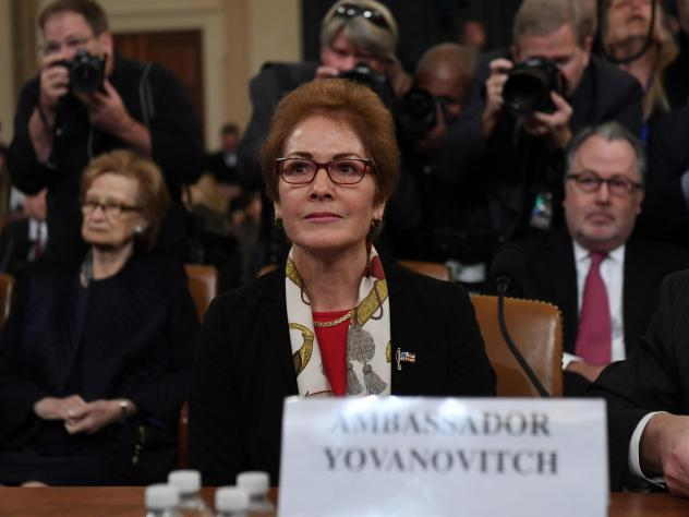 Former U.S. Ambassador to the Ukraine Marie Yovanovitch testifies during the second public hearing of the House impeachment inquiry.