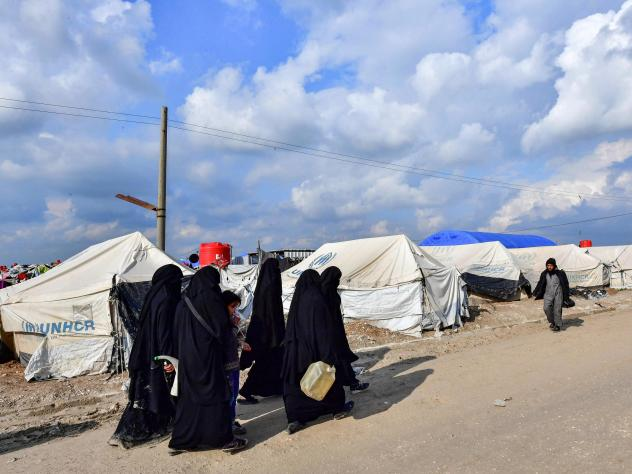 Hoda Muthana was held in al-Hol camp, which houses relatives of Islamic State group members in northeastern Syria. She was recently transferred to a different detention camp.