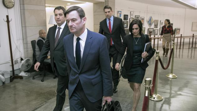 Under Secretary of State for Political Affairs David Hale departs the U.S. Capitol after giving a closed-door deposition to the House committees conducting the impeachment inquiry of President Trump on Nov. 6.